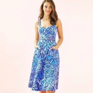 Lilly Pulitzer Ellee Midi Dress, Zanzibar Zo (NWT)